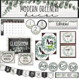 Modern Greenery Classroom Decor | Classroom Theme