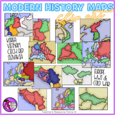 World War 2 and The Cold War Modern History Maps