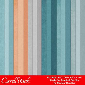 Modern Hues Colors 1 Cardstock Digital Papers