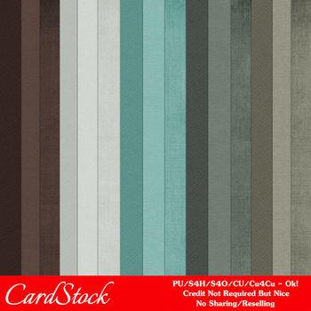 Modern Hues Colors 4 Cardstock Digital Papers