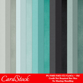 Modern Hues Colors 5 Cardstock Digital Papers A4 size