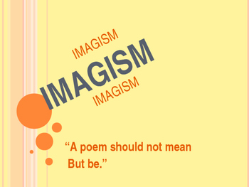 Modern Imagism PowerPoint