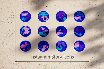 Modern Instagram Story Icons, Organic Shapes