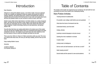 Modern Issues:  Student Article Book