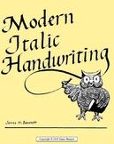 Modern Italic Handwriting -- Fourth Grade