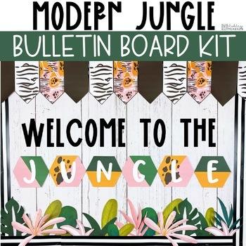 Modern Jungle Back To School Bulletin Board or Door Kit