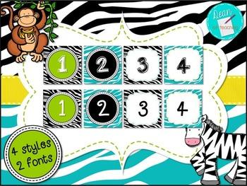 Modern Jungle Theme Calendar Set, classroom decor