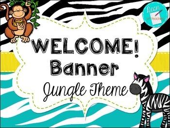 Modern Jungle Theme Welcome Banner