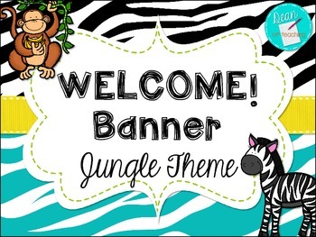 Modern Jungle Theme Welcome Banner