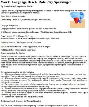 Modern Language Beach -1 Role Play Speaking