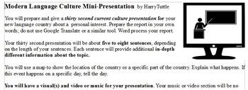 Modern Language Culture Mini-Presentation