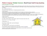 Modern Language Multiple Sentences  Board Game  Small Grou