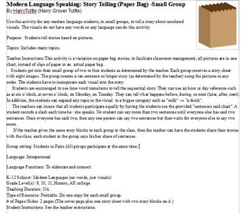Modern Language Speaking: Story Telling (Brown Bag) - Small Group