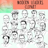 Modern Leaders Clipart - Black and White ONLY 16 piece set