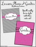 Modern Lesson Plans and Grade Book Covers