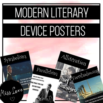 Modern Literary Device Posters