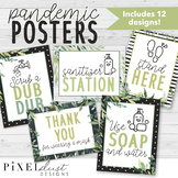 Magnolia Farmhouse COVID Poster Set | Health Posters | Sanitizer Station Sign