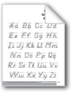 Modern Manuscript Alphabet