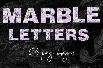 Modern Marble Alphabet Clipart, Liquid Marble Letters, Modern Font Clipart