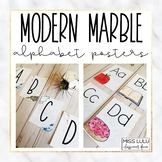 Modern Marble Alphabet Posters