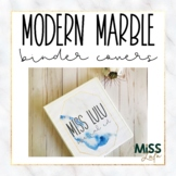 Modern Marble Binder Covers & Spines {Editable}