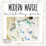Modern Marble Birthday Pack {English, Spanish & French}