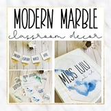 Modern Marble Classroom Decor Bundle
