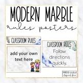 Modern Marble Classroom Rules {Editable}