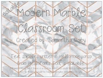 Modern Marble Classroom Set