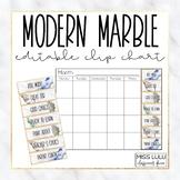 Modern Marble Clip Chart {Editable}