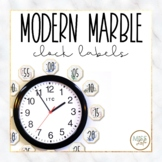 Modern Marble Clock Labels