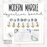 Modern Marble Focus & Objective Board {Editable}