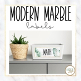 Modern Marble Labels {Editable}