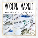 Modern Marble Name Tags {Editable}