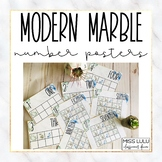 Modern Marble Number Posters {English, Spanish & French}