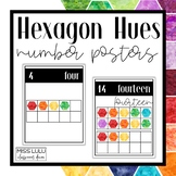 Hexagon Hues Number Posters