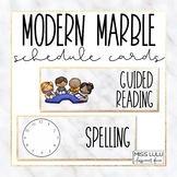 Modern Marble Schedule Cards {Editable}