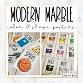 Modern Marble Shape and Color Posters {English, Spanish, French}