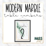 Modern Marble Table Numbers