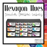 Hexagon Hues Teacher Toolbox Labels {Editable}