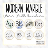 Modern Marble Word Wall Headers