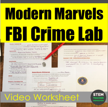 Modern Marvels: FBI Crime Lab Video Worksheet