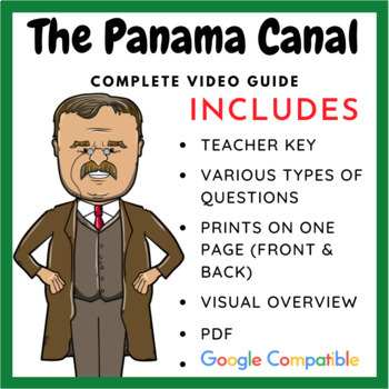 Modern Marvels: Panama Canal Video Questions by William ...