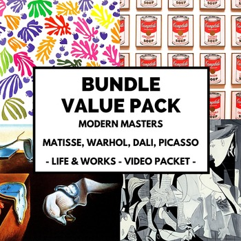 Modern Masters Value Pack: Picasso, Matisse, Dali, Warhol