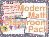 Modern Math Classroom Decor