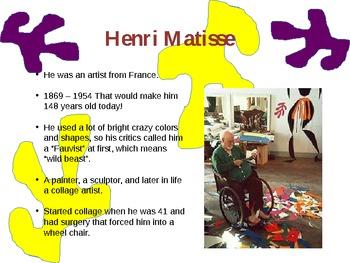 Modern Matisse Collage - 1st or 2nd grade Art