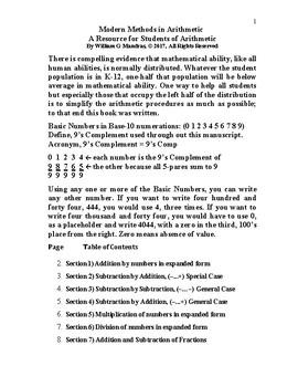 Modern Methods in Arithmetic