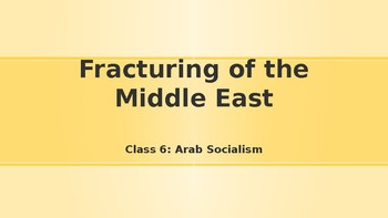 Modern Middle East History Lesson 6/14: Arab Socialism