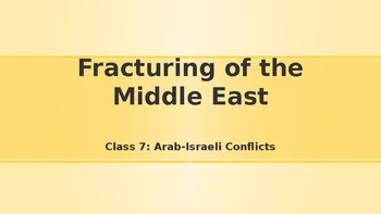 Modern Middle East History Lesson 7/14: Arab-Israeli Conflicts