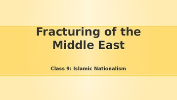 Modern Middle East History Lesson 9/14: Islamic Nationalism